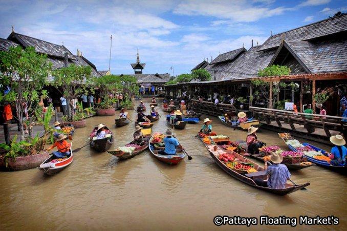 سوق بتايا العائم - تايلاند السياحية