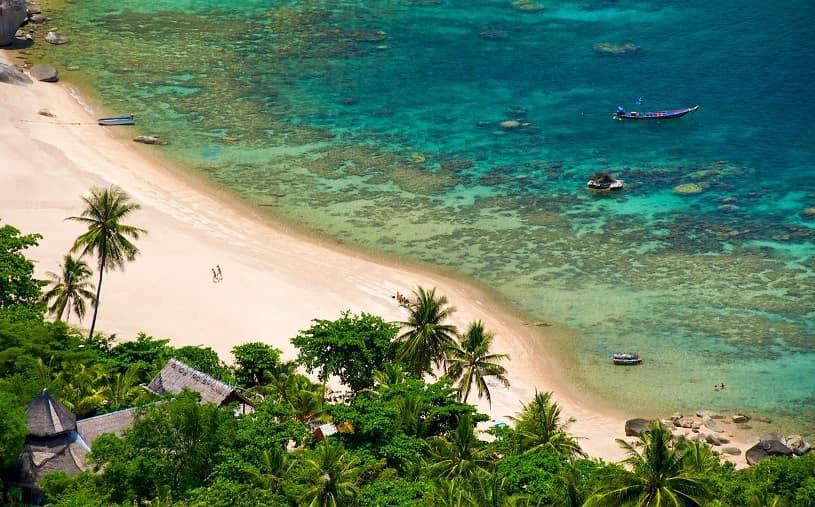 شاطئ ثيان أوغ خليج Thian Og Bay من شواطئ جزيرة كوه تاو